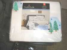Nwt $99 Cuddl Duds Queen Flannel Sheets/Sheetski Slope