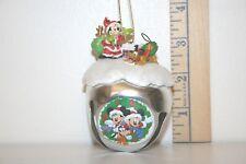 Mickey Mouse Sleigh Bell Ornament - Substitute Santa - Pluto - Ashton Drake