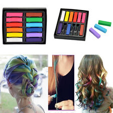 New Short 12 Colors Non-toxic Temporary Hair Chalk Dye Soft Pastels Salon Kit KY