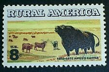 U.S. Scott 1504- Rural America, Angus Cattle- MNH OG 8c 1973