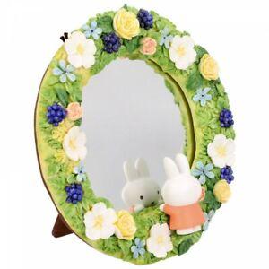 Miffy Dick Bruna Flower Wreath Mirror 16cm Japan Limited