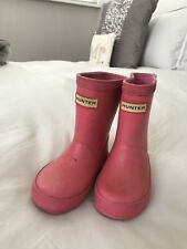 Girls Genuine Pink HUNTER Wellies, UK Infant Size 5
