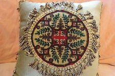 Antique needlepoint and beadwork cushion / pillow