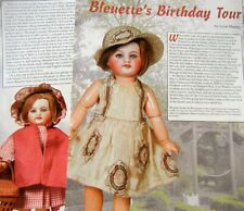 6p History Article   Pics -  Antique Bleuette French Dolls Birthday Tour