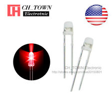 100pcs 3mm Transparent LED Water Clear Red Light Diodes Round Top Ultra Bright