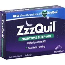 ZzzQuil Nighttime Sleep-Aid LiquiCaps 48 LiquiCaps