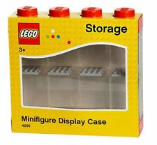 Genuine Lego Storage Display Case For 8  Mini Figures Minifigures Red NEW