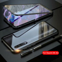 For Xiaomi Mi A3 9T 9 SE 360° Magnetic Adsorption Tempered Glass PC Case Cover