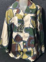 Vtg BAPE A Bathing Ape Military CAMO Safari BUTTON Shirts 4 Pocket RARE Men L