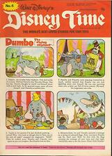 WALT DISNEY'S DISNEY TIME IPC MAGAZINES 1977  # 4 Dumbo Winnie The Pooh Bambie