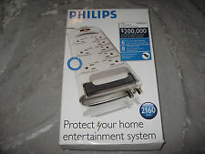 Philips Surge Protector 8 Outlets 6 ft Cord Electric Child Safety NEW!