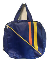 """Vintage Athalon Products Skiing Sports Gym Bag Tote Denver U.S.A. Vinyl 18""""x15"""""""