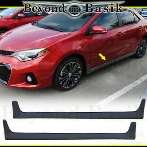 For 2014-2016 2017 2018 2019 TOYOTA COROLLA JDM Style Side Skirts 2Pc Body Kit