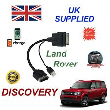 For Landrover Discovery Audio Cable iPhone 3gs 4 4s & most ipods with USB cable