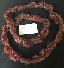 HANDMADE Women's funky knit beaded boa necklace recycled silk