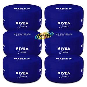 6x Nivea Original Creme Moisturising Body & Face Cream 200ml for Dry Skin