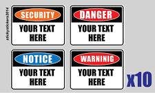 Sticker Custom Your Text 240x200mm Pack (10) Offer & Fast Delivery