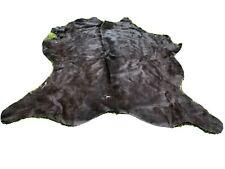 LARGE COWHIDE RUG BLACK