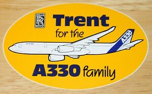 RR Rolls-Royce Trent Engines for the Airbus A330 Family Sticker