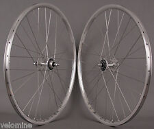 H + Plus Son Archetype Silver Dura Ace 7600 Track hubs fixed gear bike Wheelset