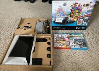 Nintendo Wii U Super Mario 3D World Deluxe 32GB Black Console Bundle Lot In Box