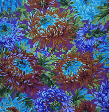 "FREE SPIRIT ""KAFFE FASSETT COLLECTIVE"" SHAGGY PWPJ072 Blue by 1/2 yard"