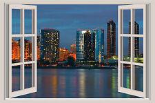 San Diego California Skyline Window Color Wall Sticker Mural 36x24