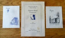 Oneonta NY High School 1950 Commencement Program &  Announcement 1942 Announce