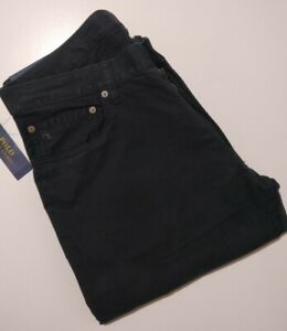 Polo Ralph Lauren 650® Straight Fit Five Pockets Pant in Polo Black Size 36W/32L