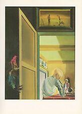 "1976 Vintage SALVADOR DALI ""GALA ANGELUS OF MILLET CONIC ANAMORPHOSIS Lithograph"