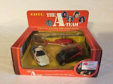 Ertl 3 Piece Gift Set #1415 The A Team Television Show Box Helicopter Car Van