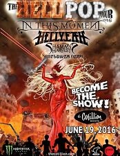"IN THIS MOMENT / HELLYEAH ""HELL POP TOUR 2016"" WICHITA CONCERT POSTER- Metalcore"