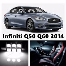 13pcs LED Xenon White Light Interior Package Kit for Infiniti Q50 Q60 2014-2015