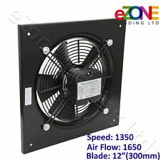 More details for 300mm industrial ventilation metal fan axial commercial air extractor quiet