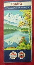 1950 Idaho road   map Chevron  oil gas Stanley Lake Sawtooth  Mountains cover