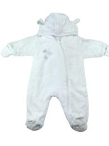 Baby Winteranzug Größe 50 / 56 Newborn gefütterter Overall Reißverschluss