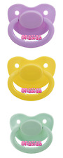 Adult Pacifier Triple Pack - Lavender, Pastel Yellow & Mint Green | ABDL DDLG