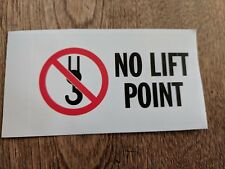 """No Lift Point / Lift Hazard Sticker 1-7/8"""" x 3-3/8"""""""