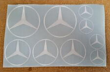 Mercedes Logos / Emblems / Stickers / Decals - ass'td, 9 total, multiple colors
