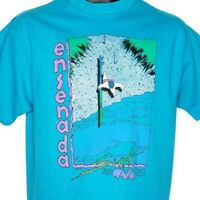 Ensenada Surfing T Shirt Vintage 90s Surfer Mexico Surf Made In USA Size Large