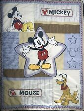 Disney Baby Mickey Mouse Quilt Crib Blanket 40x31