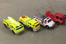 Lot of 4 Matchbox Fire Rescue Trucks