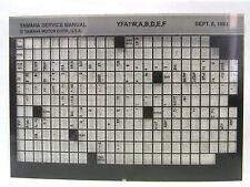 Yamaha YFA1 Breeze W A B D E F 1989 - 1994 Service Manual Microfiche y270