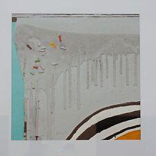 """WALTER FUSI """"Gocciolature"""" Olio e Materiali vari su cartone cm. 40X40"""