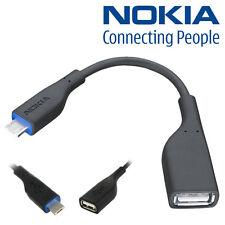 100% Genuine Nokia C3 C6-01 C7 E7-00 X3 N8 USB OTG Host Cable Adapter CA-157