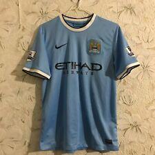 Manchester City #42 TOURE YAYA Home football shirt 2013 - 2014 Nike Soccer