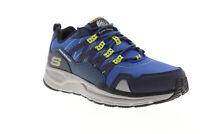 Skechers Escape Plan 2.0 Ashwick 51926 Mens Blue Canvas Athletic Hiking Shoes
