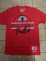 Chicago Bulls Mitchell and Ness M&N Red Men's Tee Shirt NWT