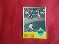 ROGER MARIS-1963 TOPPS #144 WORLD SERIES VG-EXC. CONDITION