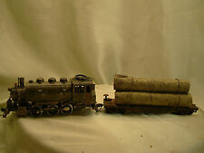 Riva Rossi Saddle Tank Logging Locomotive with 1 car - custom weathered -HO